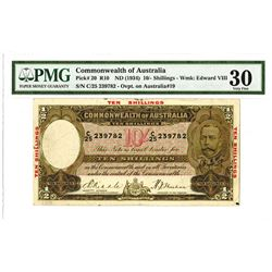 Commonwealth of Australia, 1934, Issued Note