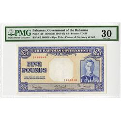 Government of the Bahamas, 1936 (ND 1945-47) Issued Banknote.