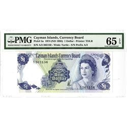 Cayman Islands Currency Board, 1974 (ND 1985) Issued Banknote.