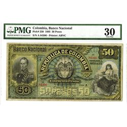 Banco Nacional de la Republica de Colombia, 1895, Issued Note