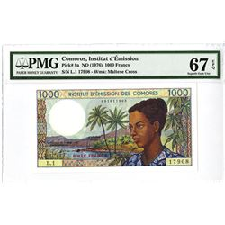 Comoros, Institut d'Emission, ND (1976) Issued Banknote.