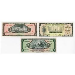 Banco Central de Reserva de El Salvador, 1957-1966, Trio of Issued Notes