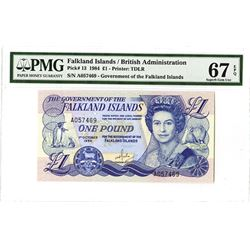 Government of the Falkland Islands, 1984, Issued Banknote