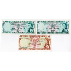 Government of Fiji, 1961-1962, Issued Trio