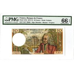 Banque de France, 1972, Issued Note