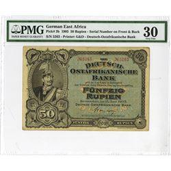German East Africa, 1905 Issued Banknote.