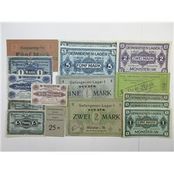 Germany WWI Notgeld and POW Notgeld Assortment, ca.1916-18.