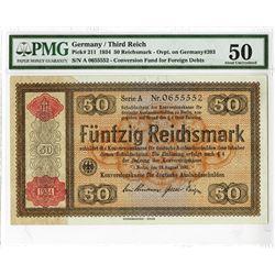 Germany/Third Reich - Konversionskasse 1934, Issued Banknote.