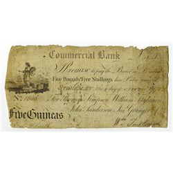 Commercial Bank, 1796 Issue Banknote.