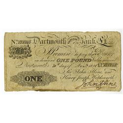 Dartmouth General Bank, 1821 Issue Banknote.