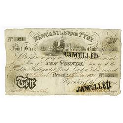 Newcastle Upon Tyne, 1838 Issue Banknote.