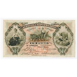 Banco Agricola Hipotecario, 1920, Issued Note