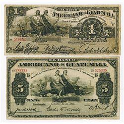 Banco Americano de Guatemala, 1917-1923, Issued Pair