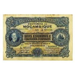 Mozambique, Banco Nacional Ultramarino, 1941 issue Banknote.