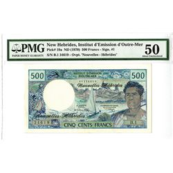 New Hebrides, Institut d'Emission d'Outre-Mer ND (1970) Issued Banknote.