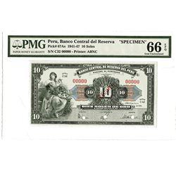 Banco Central Del Reserva 1945 Specimen Banknote.
