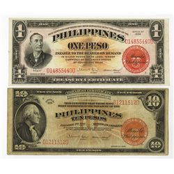 Philippines, 1936, Pair of Issued Treasury Certificates