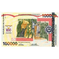 Bangko Sentral ng Philippines, 1998 Commemorative 100,000 Piso Banknote.