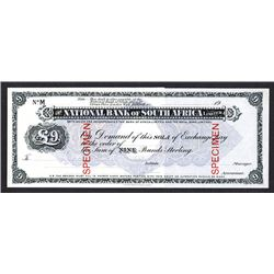 National Bank of South Africa, Limited (ca.1900's) Specimen Circulating Sola of Exchange.