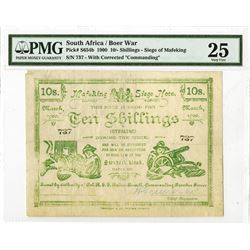 South Africa / Boer War, Mafeking Siege Note, 1900 Issued Banknote.