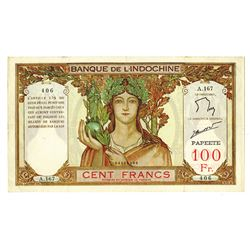 Banque De L'Indochine, ND (1939-65) Issue Banknote.