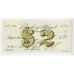 Bank of Minot, 18xx (ca.1870-90's) Unissued $2 Obsolete Bank or Scrip Note.