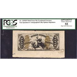 U.S. Fractional Currency, Fr. 1355SP 50¢ Third Issue Wide Margin Justice Face PCGS Apparent Choice A