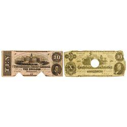 C.S.A., Banknote Pair, 1862 Series.