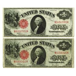 U.S. Legal Tender, $1 1917, both are Fr#40 with Speelman | White Signatures Banknote Pair.