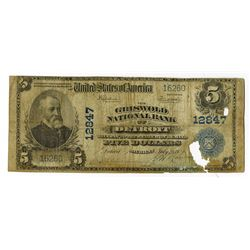 U.S. National Currency, $5, 1902 PB, CH# 12847, Fr#609, Issued Note.