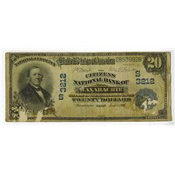 U.S. National Currency, $20, 1902 DB, Ch# S3212, Fr#642, Issued Note.