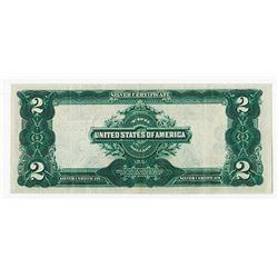 U.S. Silver Certificate $2, Series 1899, Fr#258 Speelman - White Signatures.