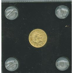 "Alaska Gold ""ONE Pinch"" 1897 circular gold token, Uncirculated to CU."