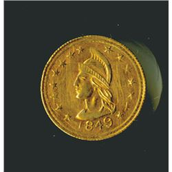 British Columbia 1849 Canada ONE Gold Octagon Token.