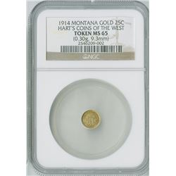 Louisiana Purchase Expo 25c, 1904 H-61-320, gold Token, NGC graded MS64
