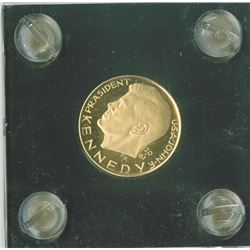 JFK Gold Peace Medal, 18k Gold or higher, proof.