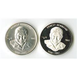 Cuba 1982 Hemingway 5 Pesos Pair.