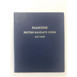 Palestine Mandate, 1927-1946, Group of 59 Coins in Album
