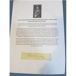 Autograph Ð R Baden-Powell