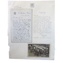 Autographed Letter King George V