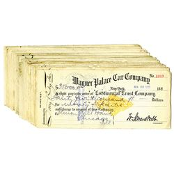 Wagner Palace Car Co., 1899, Group of 20 Checks