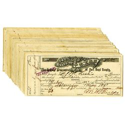 County Treasurer of Fort Bend, TX, 1896-1900, Group of 30 Checks