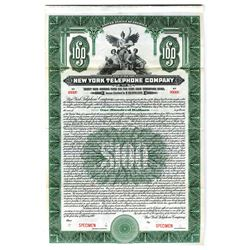 New York Telephone Co., 1919 Specimen Bond
