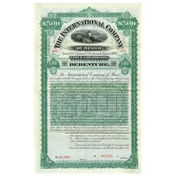International Company of Mexico 1888 Specimen Bond.