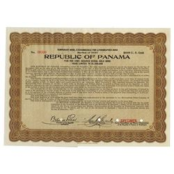 Republic of Panama, Series of 1920 Specimen Temporary Bond.