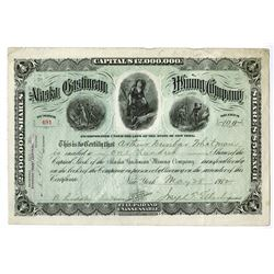 Alaska Gastineau mining Co., 1912 Issued Stock Certificate.