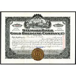 Stewart River Gold Dredging Co., Ltd. 1910 Stock Certificate.