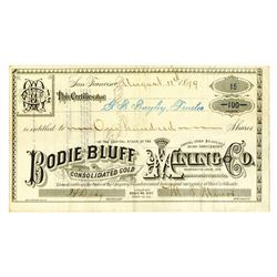 Bodie Bluff Consolidated Gold Mining Co., 1879 Issued Stock Certificate