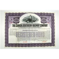 The Canada Southern Railway Co. 1913 Registered Specimen Bond.