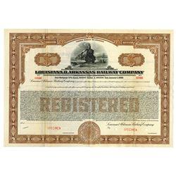 Louisiana & Arkansas Railway Co., 1869 Specimen Bond
